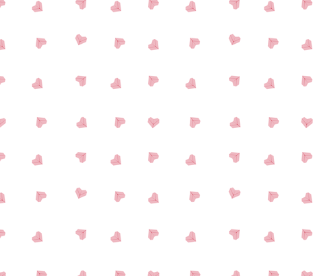 Origami Hearts fabric by drizzlydaydesignco on Spoonflower - custom fabric