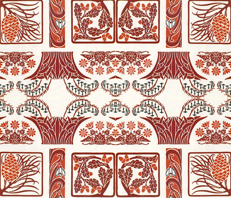 Vintage art nouveau designs fabric by vintage_visage on Spoonflower - custom fabric
