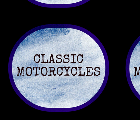 CLASSIC MOTORCYCLES fabric by kimi-d on Spoonflower - custom fabric