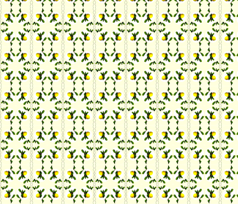 Lemon Repeat fabric by robin_rice on Spoonflower - custom fabric
