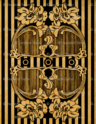 Art Nouveau Stripes and flarals