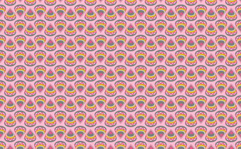 DROPS (pink) fabric by biancagreen on Spoonflower - custom fabric