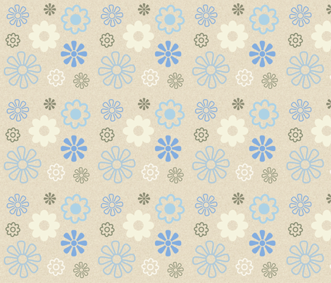 Flowers 3 fabric by dogsndubs on Spoonflower - custom fabric