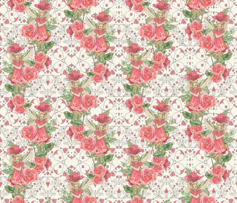 Fairy_roses__close up_ fabric by adranre on Spoonflower - custom fabric