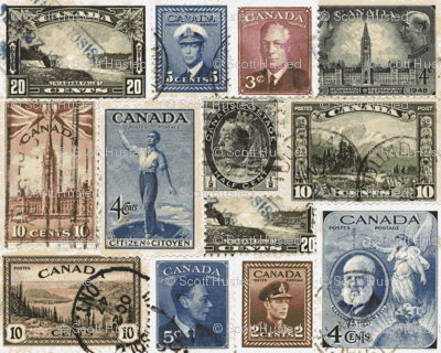 Postage Stamps, Canada-ch