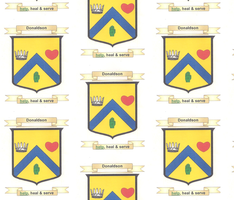 Donaldson_Family_Crest_revised_001 fabric by nancy_jean_bryant on Spoonflower - custom fabric