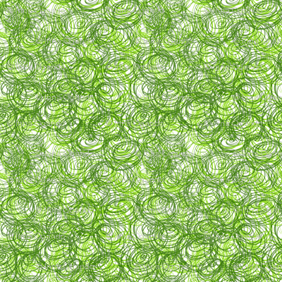 Abstract green circles.