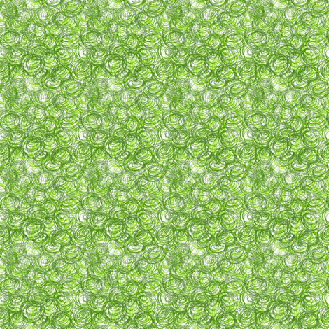 Abstract green circles. fabric by yaskii on Spoonflower - custom fabric