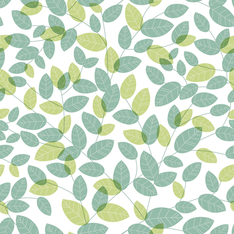 Leaves. Green fabric by yaskii on Spoonflower - custom fabric