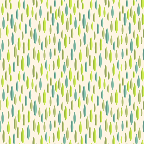 Leaves. Green - yellow fabric by yaskii on Spoonflower - custom fabric