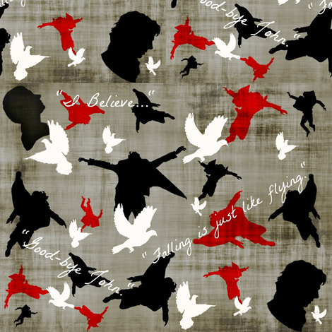 Falling is just like flying. fabric by marchhare on Spoonflower - custom fabric