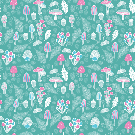 Mushroom fabric by yaskii on Spoonflower - custom fabric