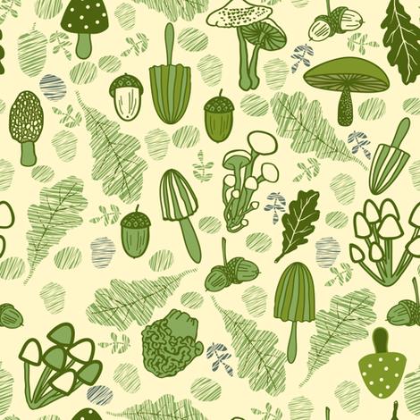 Mushroom fabric by innaogando on Spoonflower - custom fabric