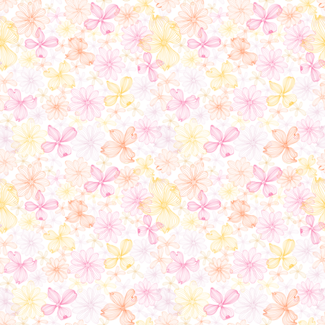 Pink-yellow fabric by yaskii on Spoonflower - custom fabric