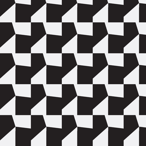 Black & White Mosaic fabric by stoflab on Spoonflower - custom fabric