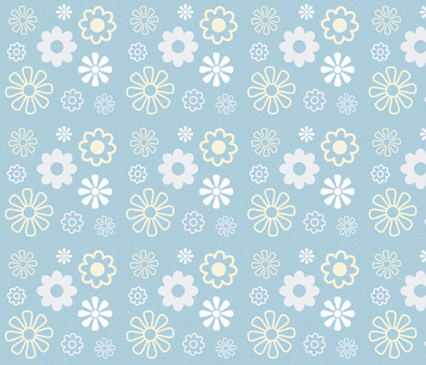 Flowers 4 fabric by marcdoyle on Spoonflower - custom fabric