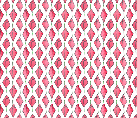 Modish blushing rosebud box - large  fabric by victorialasher on Spoonflower - custom fabric