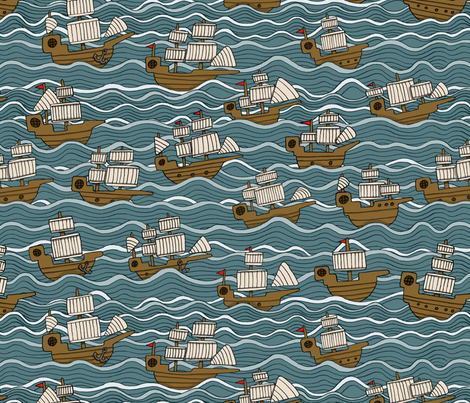 Trade winds fabric by bitsofbobs on Spoonflower - custom fabric