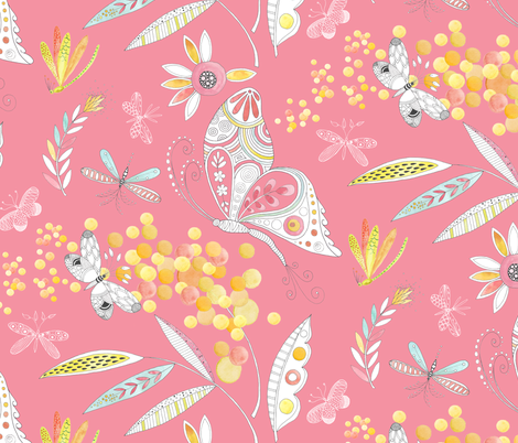 Mimosa fabric by kayajoy on Spoonflower - custom fabric