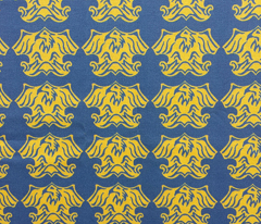 Fleur De Lis Eagle Tessellation - Blue & Gold