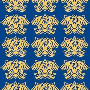 Fleur De Lis Eagle Tessellation - Blue & Gold