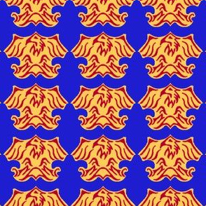 Fleur De Lis Eagle Tessellation - 3 Color
