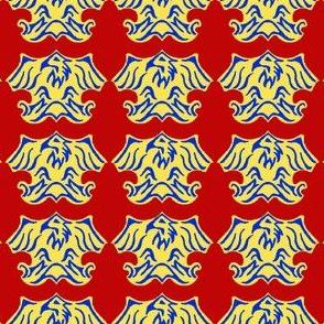 Fleur De Lis Eagle Tessellation - 3 Color