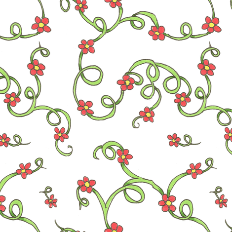Scarlet flowers fabric by neetz on Spoonflower - custom fabric