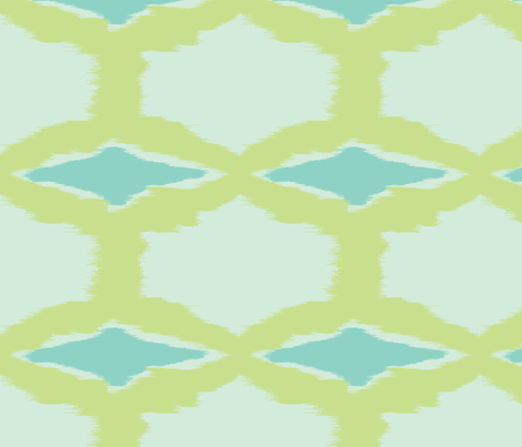 blue ikat diamonds fabric by fable_design on Spoonflower - custom fabric