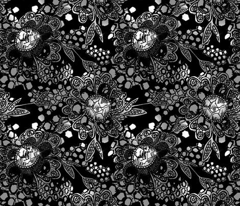 Jewel Flowers fabric by sianalexandria on Spoonflower - custom fabric