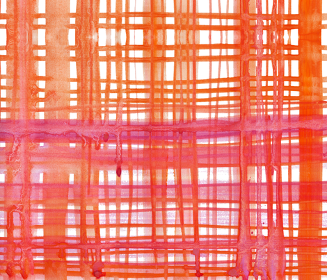 cestlaviv_madras orange pink fabric by cest_la_viv on Spoonflower - custom fabric