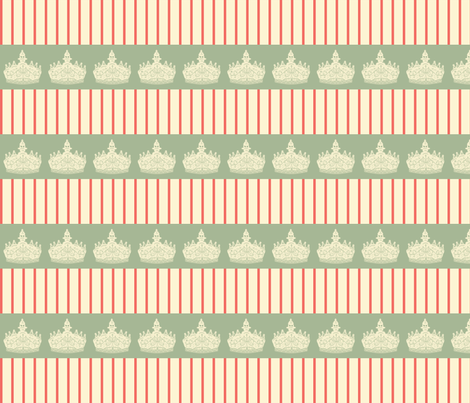 Crown___Stripe fabric by ©_lana_gordon_rast_ on Spoonflower - custom fabric