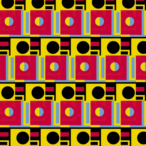 Primary Circles and Half-Circles fabric by boris_thumbkin on Spoonflower - custom fabric