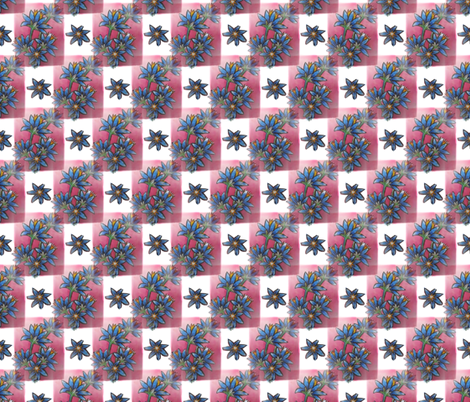 blue__red__white__flowers_and_squares fabric by vinkeli on Spoonflower - custom fabric