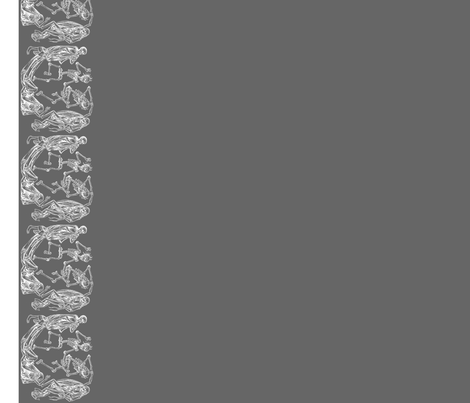 Plague Border in White on Gray II