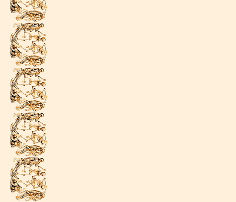 Plague Border in Brown on Cream
