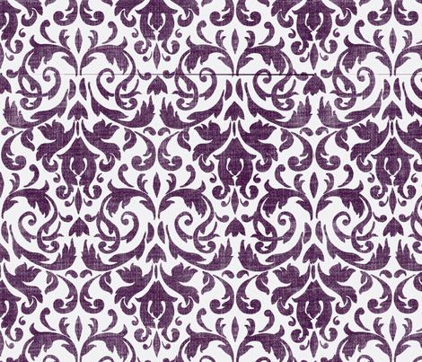 Purple Damask fabric by flyingfish on Spoonflower - custom fabric