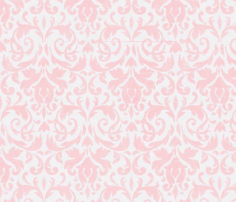 Pink Damask fabric by flyingfish on Spoonflower - custom fabric