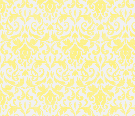 Butter Damask-ch fabric by flyingfish on Spoonflower - custom fabric