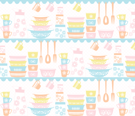 PYREX LOVE_PASTELS fabric by natasha_k_ on Spoonflower - custom fabric