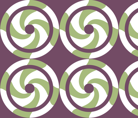 Swirling circles fabric by anderssonochbrunk on Spoonflower - custom fabric