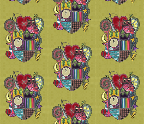 passiones ad foveat aeternum fabric by scrummy on Spoonflower - custom fabric