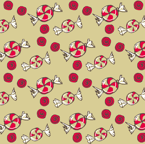 Peppermint Candy Christmas fabric by thats_artrageous on Spoonflower - custom fabric