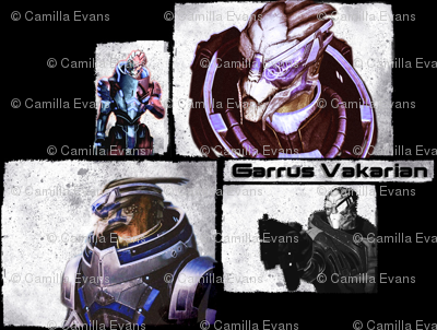 Garrus of Mass Effect fabric