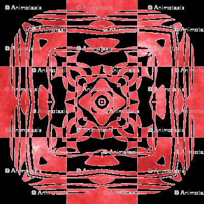 Geo Floral Red Design, L
