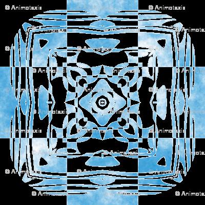 Geo Floral Sky Blue Design, L