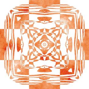 Geo Floral Orange Design, L