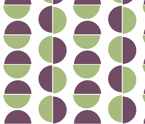 Large semi circles on white fabric by little_fish on Spoonflower - custom fabric