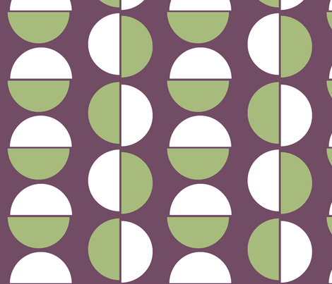 Large_semi_circles_on_purple fabric by little_fish on Spoonflower - custom fabric