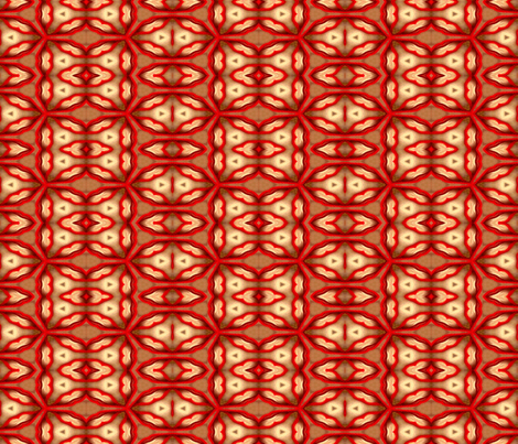 Red Thread on Handmade Paper fabric by anniedeb on Spoonflower - custom fabric